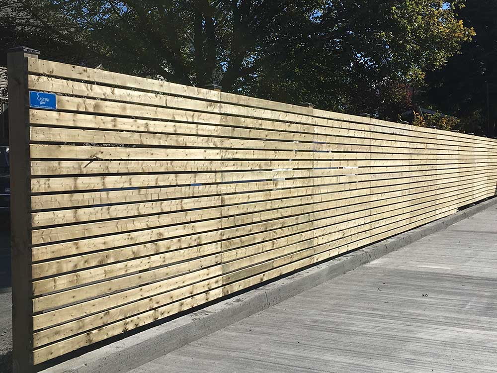 Commercial Wooden Fence Systems